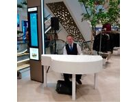 Pianist with portable piano shell for weddings & events - Top 40 tunes, Jazz, Pop. Classical, etc.