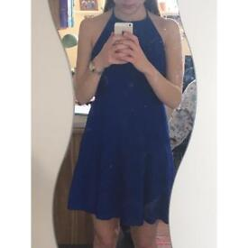 Blue halter neck dress from New Look, size 8