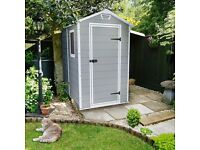 6X4 Keter Apex Double Resin Wall Plastic Shed £200.0.00
