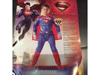 Boys Rubies Superman Deluxe outfit age 3-4