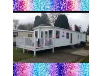 Haggerston Castle - 3 bedroom, 8 birth prestige caravan with decking - Family Owned