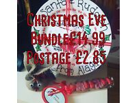 Christmas Eve Bundle, Christmas Eve Plate, Sweet Kebab, Reindeer Food great stocking filler