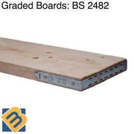 Scaffold Boards Graded Scaffolding Boards | Scaffold Timber Boards 8ft 10ft 13ft