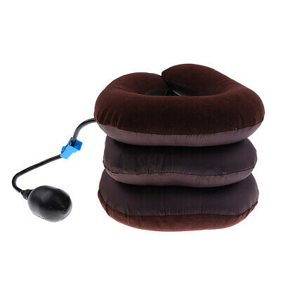 Comfort Cervical Neck Traction Device Inflatable Air Pillow for Home Therapy