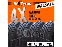 4x New 185/65R14 BUDGET Tyres Fitting is Available