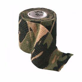 Jack Pyke Stealth Camo Tape Self Sticking Reusable Rifle Wrap Hunting Field