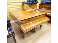 John Broadwood Burr Walnut Boudoir Grand Piano By Sherwood Phoenix Pianos