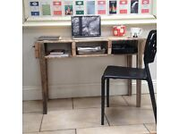 VINTAGE AND RECLAIMED PALLET INDUSTRIAL CONSOLE TABLE OR DESK
