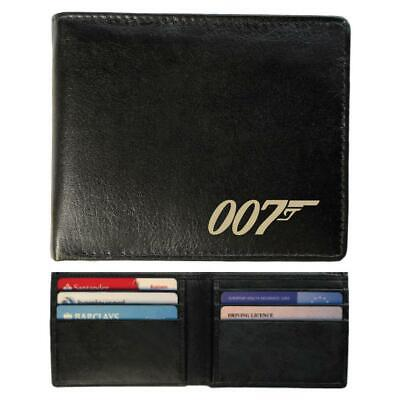 Slimline Real Leather Wallet - 007 Bond Design