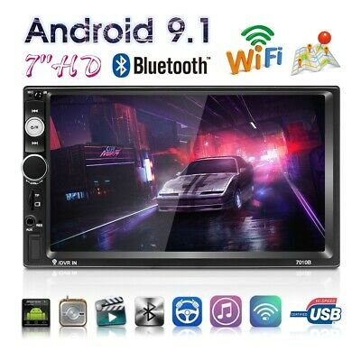 """2 Din 7"""" Android 9.1 Radio del coche Estéreo WIFI GPS Navi BT TF MP5 AUX Mapa"""