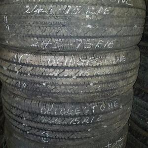 Set of four 245 75 16 tires for sale