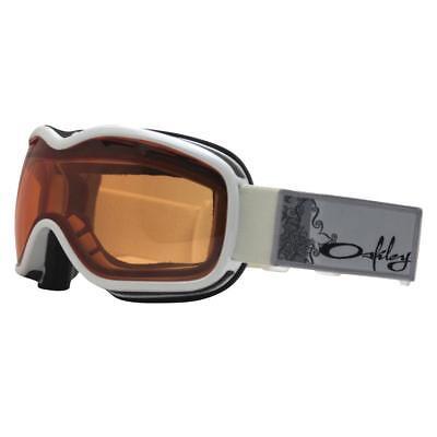 fc7cac41b7 Oakley 02-973 STOCKHOLM Pearl White w  Persimmon Lens Womens Snow Ski  Goggles .