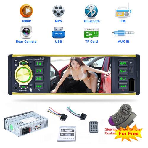 "4.1"" HD Screen Car Stereo Radio MP5 MP3 Player BT 1 DIN USB"