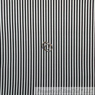 BonEful FABRIC FQ Cotton Quilt VTG Black White B&W STRIPE Blend Texture Tone (Black Printed Cotton Blend)