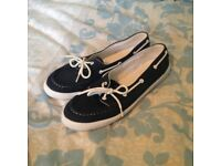 Topshop navy boat shoes size 42/9