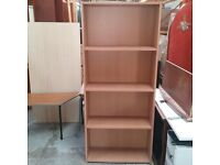 Dark beech effect bookcase