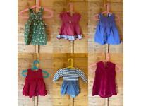 3 to 6 months girls dress bundle