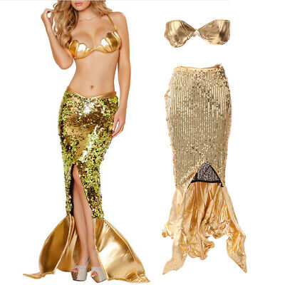 Sexy Shiny Sequin Mermaid Siren Costume Fancy Party Cosplay Accessories - Mermaid Costume Accessories