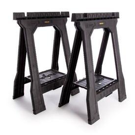 Stanley Folding Sawhorses - 2 pairs (4 units)