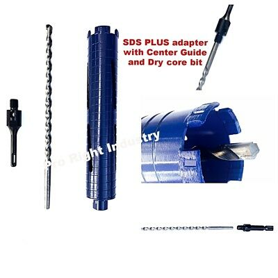 2 Dry Core Bit With Guide For Sds Plus Hammer Drills