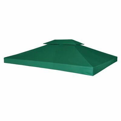 Tendone Tenda Balcone Telo Impermeabile Ricambio per Gazebo 310g/m² Verde 3x4m p