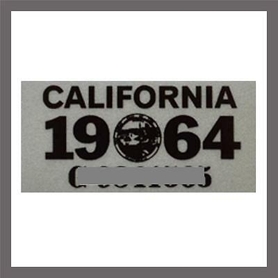 1964 California Yom Dmv Car Truck Trailer License Plate Sticker   Tag Ca 1963 64