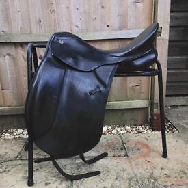 Keiffer dressage saddle black leather medium fit