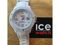 Ice watch. Silicone white unisex. As new - not a scratch. Box included.