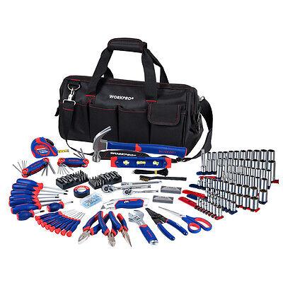 WORKPRO 322PC Handtool Set Sockets Pliers Screwdriver Repair Tool Kit Strap Bag