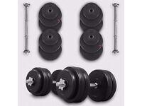 We R Sports® 30KG Dumbbell Set Vinyl Gym Dumbbells Free Weights Fitness Exercise