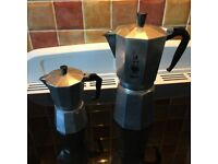 Two Aluminum Coffee Pots