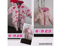 Baby girl and boys coats / jackets