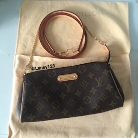 Genuine Louis Vuitton Eva Monogram Clutch Bag - Very Good Condition With Dustbag