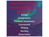 Get Proofreading/Editing Help with Essay/Assignment/Coursework/Nursing/Personal Statement Deadline