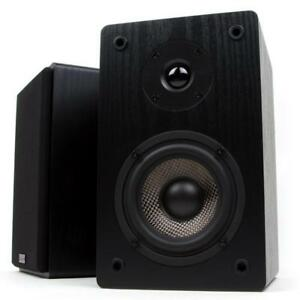 New Micca MB42 Bookshelf Speakers with 4-Inch Carbon Fiber Woofer and Silk Dome Tweeter, Black
