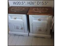 Solid pine x 2 shabby chic bedsides
