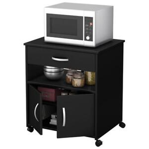 Fiesta Contemporary Mobile Microwave Cart - Availaible in Black or Cherry