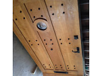 Large Solid Oak Front Door & Frame - Excellent quality and condition ***Delivery***