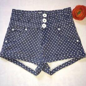 'Parisian 'High Waisted' Shorts - size 8. Waist 25 inches.