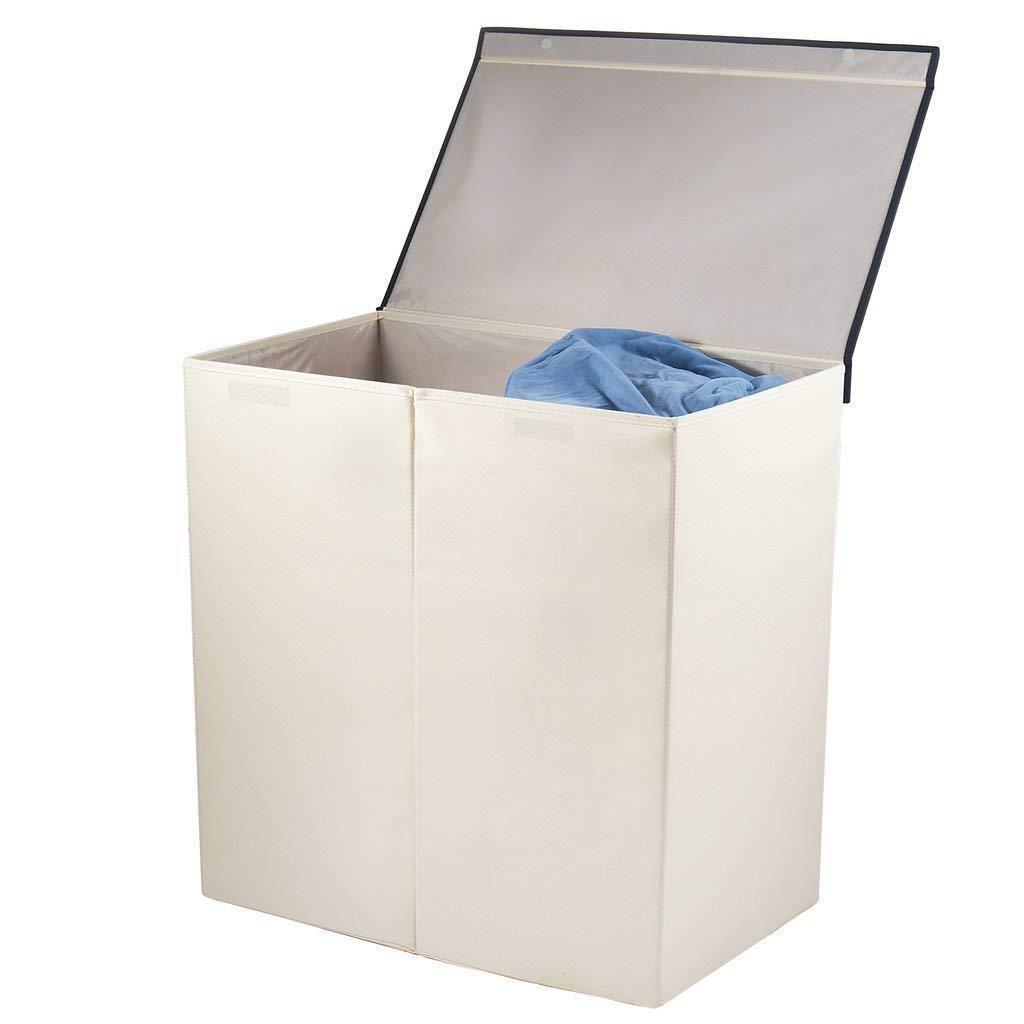 double laundry hamper basket sorter clothes storage