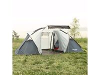 KingCamp Bari 3000mm Waterproof Fire Resistant 4 Man Tent With Living Room