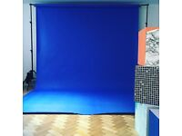 4x Photo studio background paper rolls 2.72m wide x 11m long