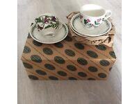 Portmeirion Botanic Garden Teacups and Saucers - set of 6