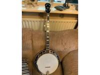 70s saga 5 string banjo Masterclone Gibson copy Rare