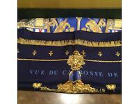 Hermes Scarf - Blue Gold