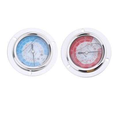 2pcs Liquid Filled High Low Pressure Gauge 3.81.8mpa For Coolant Water