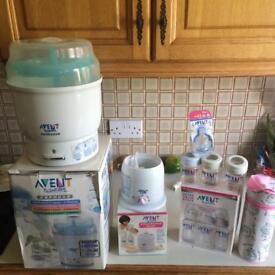Avent baby bottle steriliser set