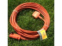 Genuine FLYMO Lawnmower power cable 15 metres USED ONCE