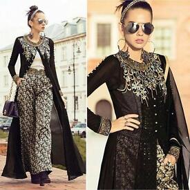 Black Beauty Indo Western All Day Palazzo Style Suit