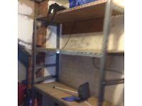 Heavy duty garage shelving/ racking